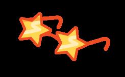 Afbeelding bril met sterrenglazen